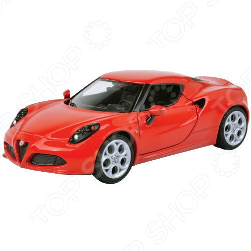 Модель автомобиля 1:24 Motormax Alfa Romeo 4C colosseo 70805 4c celina