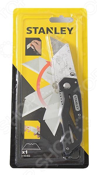 Нож строительный складной STANLEY лезвие трапеция  нож для напольных покрытий тип а02 18мм kraftool 0930 z01
