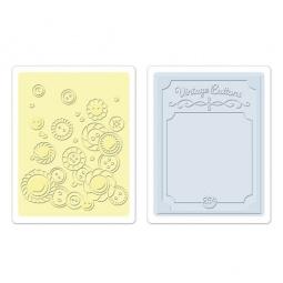 фото Форма для эмбоссирования Sizzix Textured Impressions Винтажные пуговички