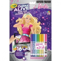 фото Книжка-раскраска интерактивная Crayola «Барби»