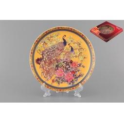 Купить Тарелка декоративная Elan Gallery «Павлин на золотом»