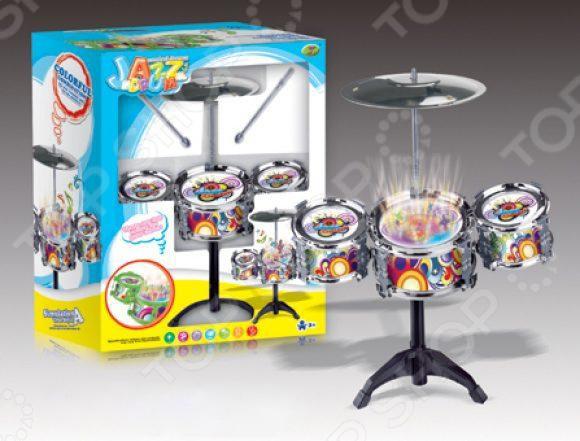 Барабанная установка игрушечная Shantou Gepai 586-208Игрушечные музыкальные инструменты<br>Барабанная установка игрушечная Shantou Gepai 586-208 игрушка с помощью которой ребенок сможет почувствовать себя настоящим музыкантом. В набор входит барабанная установка и барабанные палочки, изготовленные из качественного материала, безопасного для ребенка. Имеют необычный стильный дизайн, который понравится каждому ребенку. Сопровождается световыми эффектами. Игрушка хорошо развивает чувство ритма, мелкую моторику рук и координацию движений.<br>