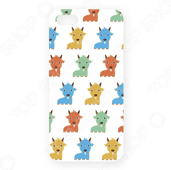 Чехол для iPhone 5 Mitya Veselkov «Цветные козлята» цена 2017