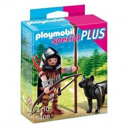 фото Набор фигурок к игровому конструктору Playmobil «Дополнение: Охотник с волком»