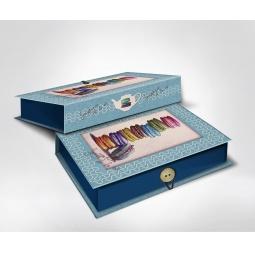 фото Шкатулка-коробка подарочная Феникс-Презент «Макаруны». Размер: L (22х16 см). Высота: 7 см