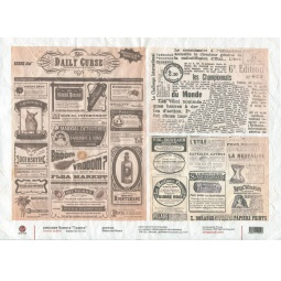 Купить Бумага рисовая для декупажа Другие люди «Газета»