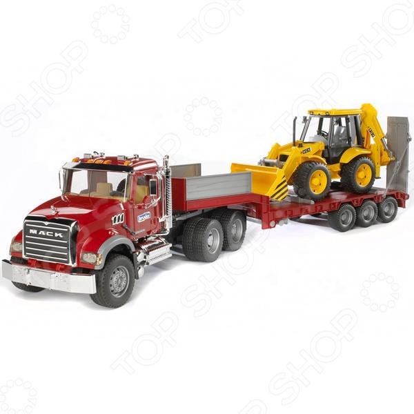 Машинка игрушечная Bruder «Тягач с прицепом и платформой» MACK