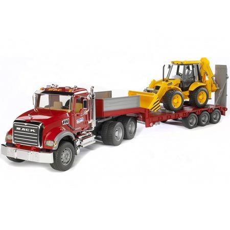 Купить Машинка игрушечная Bruder «Тягач с прицепом и платформой» MACK