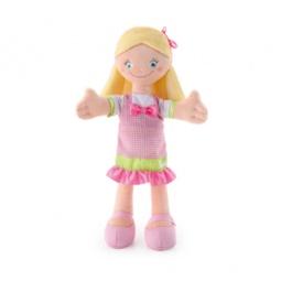 Купить Кукла мягкая Trudi Девочка в розовом платье с бантом. Уцененный товар