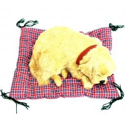 фото Мягкая игрушка интерактивная Zzz «Дышащий Ретривер на коврике»