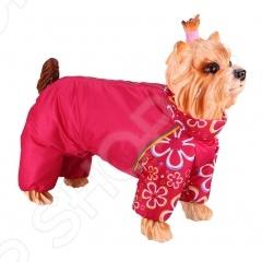 Комбинезон-дождевик для собак DEZZIE «Йоркширский терьер» №1. Цвет: красный