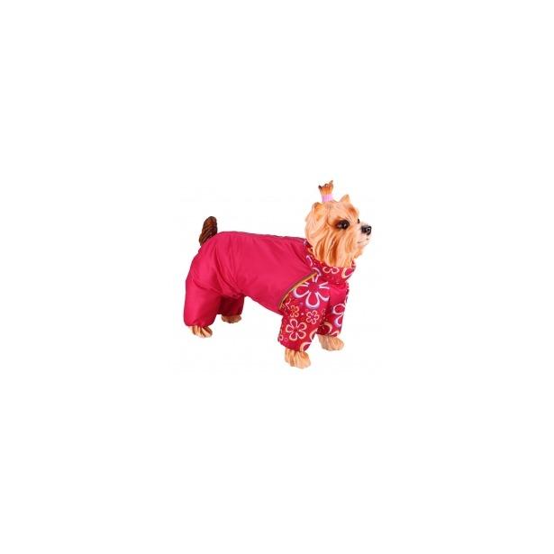фото Комбинезон-дождевик для собак DEZZIE «Йоркширский терьер» №1. Цвет: красный. Материал подкладки: синтепон