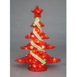 фото Декорация с подсветкой Holiday Classics «Елка уличная». Цвет: красный