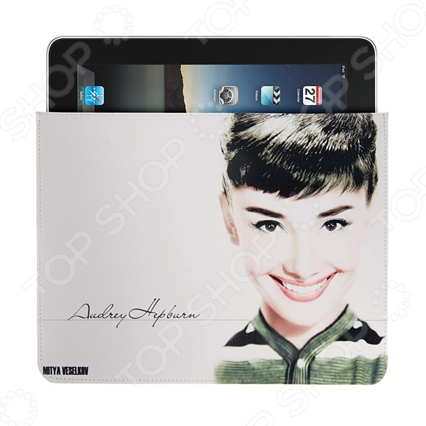 Чехол для iPad Mitya Veselkov «Одри улыбается» чехлол для ipad iphone mitya veselkov чехол для ipad райский сад ip 08