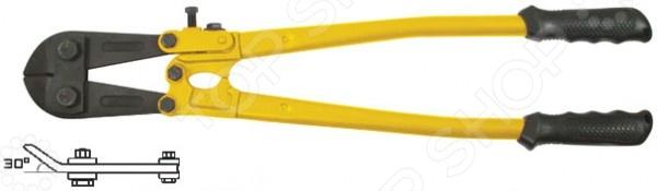 Болторез FIT угловойБолторезы. Ножницы<br>Болторез FIT угловой представляет собой слесарный инструмент, используемый для перекусывания проволоки и металлических штифтов, а так же для срезания арматуры у основания железобетонных плит. Губки болтореза выполнены из хром-ванадиевой стали, а ручки из инструментальной стали с пластиковыми вставками. Угол наклона губок составляет 30 градусов.<br>