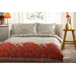 фото Комплект постельного белья TAC Sasha. 1,5-спальный. Цвет: оранжевый