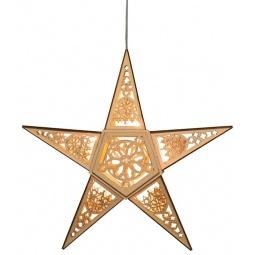 фото Декорация подвесная Star Trading «Звезда». Цвет: бежевый