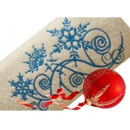 фото Полотенце подарочное с вышивкой TAC Snow picture. Цвет: бежевый