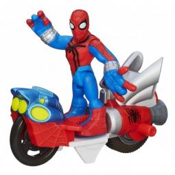 фото Мотоцикл игрушечный гоночный Hasbro Spider Man. В ассортименте