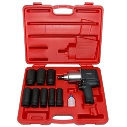 Купить Набор инструмента: пневмогайковерт с ударными удлиненными головками Force F-6111D