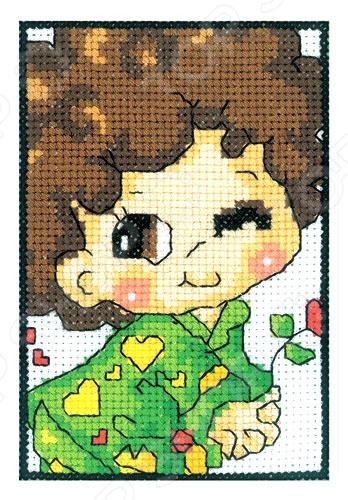Набор для вышивания крестиком RTO «Влюбленный мальчуган» ирвинг м ред 1001 здание которое нужно увидеть