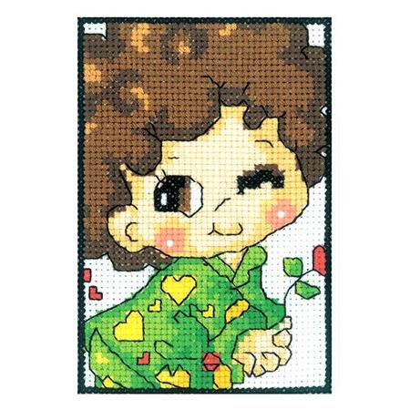 Купить Набор для вышивания крестиком RTO «Влюбленный мальчуган»