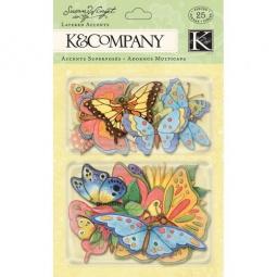 Купить Стикер-украшение K&Company «Весенние бабочки»
