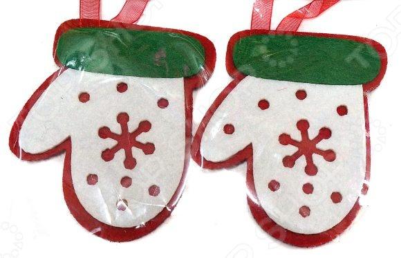 Набор подвесок декоративных Новогодняя сказка «Варежка»