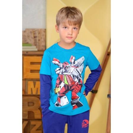 Купить Футболка для мальчиков Detiland AW15-UKN-BTL-017. Цвет: бирюзовый