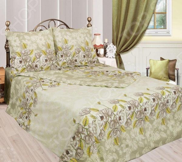 Комплект постельного белья Сова и Жаворонок «Авокадо». 1,5-спальный