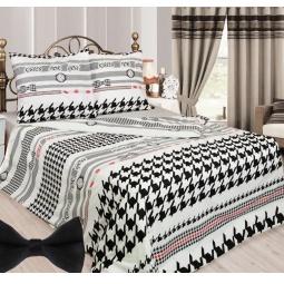 фото Комплект постельного белья Сова и Жаворонок «Мистер Икс». 2-спальный. Размер наволочки: 70х70 см — 2 шт