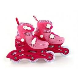 фото Роликовые коньки детские Moby Kids 2в1. Цвет: розовый