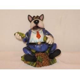 фото Фигурка настольная Shantou Gepai «Собака бизнесмен с долларами»