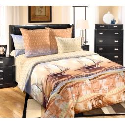фото Комплект постельного белья Королевское Искушение с компальоном «Круиз». 2-спальный. Размер простыни: 220х195 см