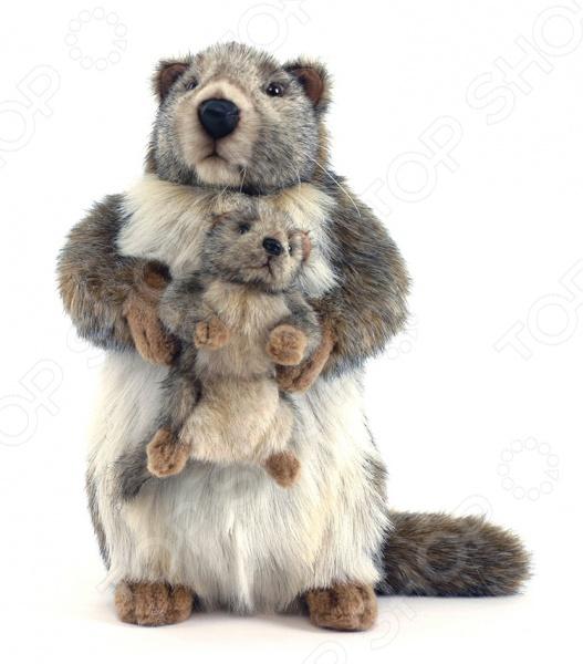 Мягкая игрушка Hansa «Сурок с детенышем» hansa смесительhansa polo 51442173 для ванны с душем