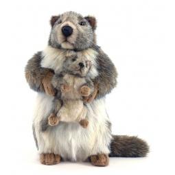 фото Мягкая игрушка Hansa «Сурок с детенышем»