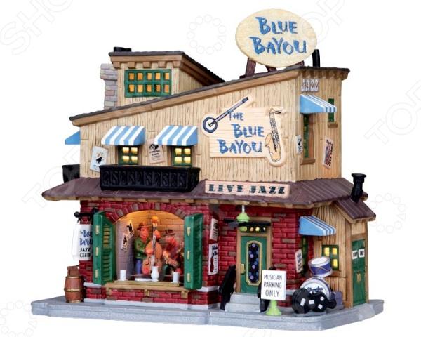 Домик керамический Lemax «Клуб: Синий рукав реки»Статуэтки и фигурки<br>Домик керамический Lemax Клуб: Синий рукав реки это уникальный домик от известного производителя керамики из Голландии. Домик изнутри светится встроенными лампочками, создавая впечатление, что внутри него есть жители. Даже самые мельчайшие детали воспроизведены очень точно и изящно, можно любоваться фигуркой как произведением искусства. Попробуйте собрать несколько домиком вместе и вы получите сначала деревню, а потом целый город! Стоит добавить фигурки людей, транспорт или деревья и вы сможете любоваться миниатюрной копией европейского городка, который находится прямо у вас в квартире. Этот сувенир может стать частью коллекции или просто удачным подарком для любого вашего знакомого!<br>