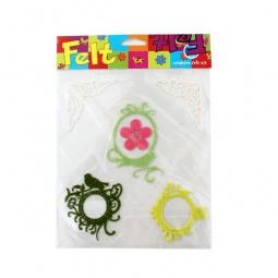 Купить Аппликации из фетра RTO «Рамки и цветочки»