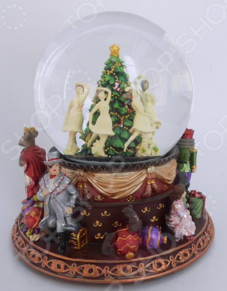 Снежный шар музыкальный Crystal Deco «Щелкунчик. Танец балерин вокруг елочки»