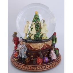 фото Снежный шар музыкальный Crystal Deco «Щелкунчик. Танец балерин вокруг елочки»