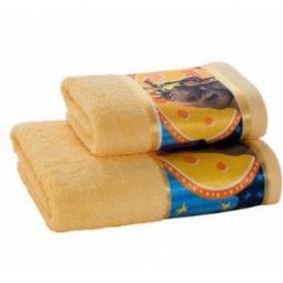 фото Полотенце махровое Непоседа «Мадагаскар. Мелман». Цвет: желтый. Размер полотенца: 130х60 см