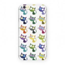 фото Чехол для iPhone 6 Mitya Veselkov «Цветные кошки в ряд»