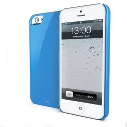 фото Чехол Muvit Glossy для iPhone 5. Цвет: голубой
