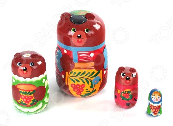 Матрешка БЭМБИ «Три медведя» три медведя три медведя кофточка happy animals молочная с мишкой
