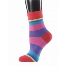 фото Носки женские Teller Funky Stripes. Цвет: красный