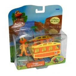 Купить Набор игровой Поезд Динозавров «Бадди с вагончиком»