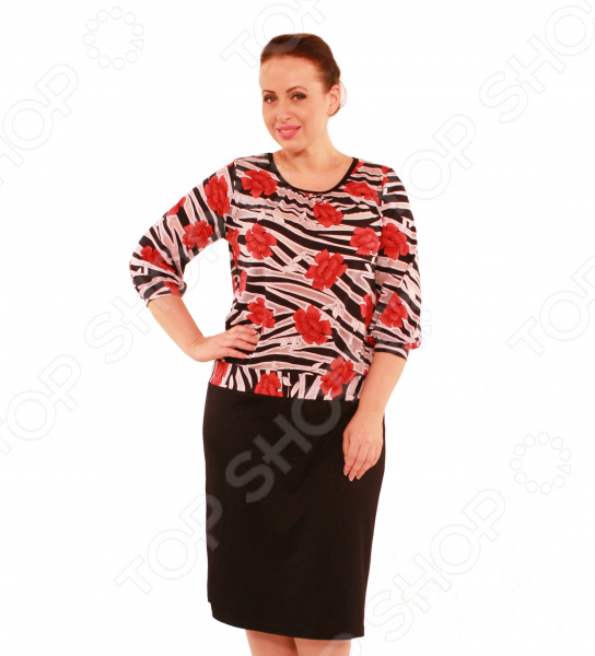 Платье Матекс ЭлегансПовседневные платья<br>Платье Матекс Элеганс это легкое платье, которое поможет вам создавать невероятные образы, всегда оставаясь женственной и утонченной. Благодаря полуприталенному силуэту оно скроет недостатки фигуры и подчеркнет достоинства. В этом платье вы будете чувствовать себя блистательно как на работе, так и на вечерней прогулке по городу. Универсальная длина делает платье одеждой на все случаи жизни, а удобные рукава скрывают полноту рук. Круглый вырез горловины изящно сочетается с длинными рукавами и расставляет акценты формируя женственный силуэт. Оригинальная цветовая гамма верха и однотонные низ делает это платье подходящим для торжественных мероприятий. Платье изготовлено из плотной ткани верх: 90 вискоза, 10 полиэстер; низ: 40 хлопок, 55 полиэстер, 5 эластан , благодаря чему материал не скатывается и не линяет после стирки. Даже после длительных стирок и использования платье будет выглядеть прекрасно.<br>