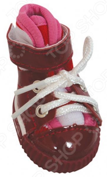 Обувь для собак DEZZIE «Шоко»Обувь для собак<br>Обувь для собак DEZZIE Шоко интересная вещь, с помощью которой вы обеспечите вашему питомцу нужный комфорт во время прогулок. Обувь разработана с учетом анатомических особенностей животных, плотно облегает лапу благодаря шнуркам и липучкам. Также имеет язычок-фиксатор для защиты шерсти при застегивании. Резиновая подошва не скользит по льду и не даст лапам промокнуть. Обувь смотрится очень мило, при этом прекрасно сохраняет форму при носке. Из представленного ассортимента можно выбрать размер.<br>