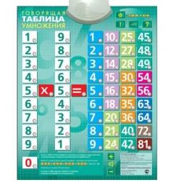 Купить Плакат электронный звуковой ЗНАТОК «Говорящая таблица умножения»