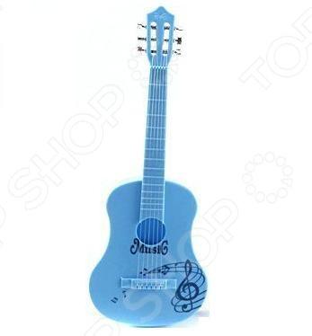 Гитара для ребенка Shantou Gepai HR186AИгрушечные музыкальные инструменты<br>Гитара для ребенка Shantou Gepai HR186A 6 струн оригинальный подарок для ребенка, любящего музыку. Многие дети мечтают стать знаменитыми музыкантами и выступать на сцене, поэтому зачастую играют на воображаемых инструментах. Обрадуйте своего малыша, купив ему игрушечную гитару. Игра с подобными изделиями способствует развитию фантазии, слухового восприятия и мелкой моторики рук. Особенность инструмента в том, что он выглядит практически как настоящая акустическая гитара.<br>